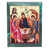 Икона настенная Святая Троица змеевик 14х18х1 см