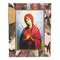 Икона настольная Семистрельная рамка мозаика из самоцветов 10х13х3 см