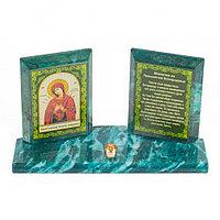 Икона настольная Молитва Умягчение злых сердец из змеевика 18х7х10,5 см