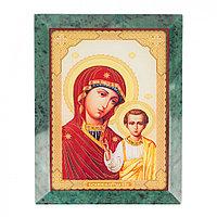 Икона настенная Казанская из змеевика 14х18х12 см