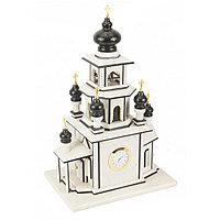 """Эксклюзивные часы """"Церковь"""" из натурального камня мрамор змеевик"""