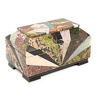 Ларец из камня Мозаика большой 22х13х12 см