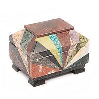 Ларец из камня Мозаика малый 12х9х8,5 см