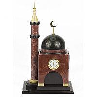"""Сувенирные часы """"Мечеть"""" из камня лемезит и долерит"""