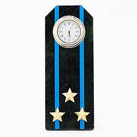 """Часы """"Погон полковник Авиации ВМФ"""" из змеевика"""