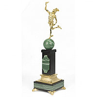 "Бронзовая статуэтка ""Гермес"" на постаменте из камня"