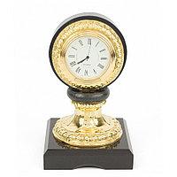 Настольные часы из бронзы и камня долерит
