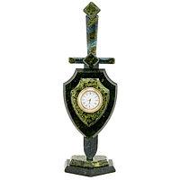 """Часы """"Щит и меч"""" малый камень змеевик"""