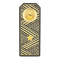 """Часы подарочные """"Погон генерал"""" цвет золото камень змеевик"""