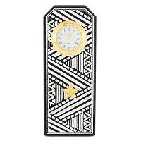 """Часы """"Погон генерал"""" цвет серебро камень змеевик"""