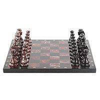Каменные шахматы из яшмы 40х40 см
