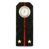 "Часы ""Погон лейтенант МП ВМФ"" из змеевика"