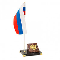 Флагшток настольный с гербом России креноид