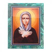 Икона настенная Ксения Петербуржская змеевик 14х18х1,2 см