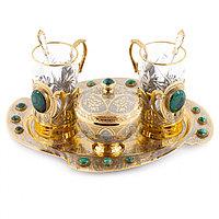 """Чайный набор """"Малахитовый"""" в подарочной коробке Златоуст"""
