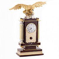 """Часы """"Орел"""" яшма бронза"""
