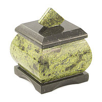 Шкатулка для украшений камень змеевик 5,5х5,5х6,5 см