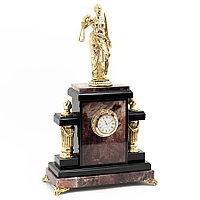 """Интерьерные часы из бронзы """"Фемида"""" камень яшма"""