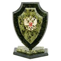 """Сувенир """"Щит с гербом России"""" камень змеевик 11х7х16 см"""