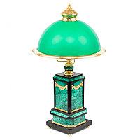 Настольная лампа камень малахит