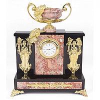 """Интерьерные часы из камня и бронзы """"Изобилие"""" креноид"""