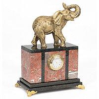 """Декоративные настольные часы """"Индийский слон"""" камень креноид"""