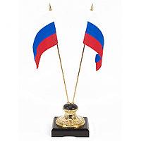 "Подставка ""Два флага"" камень долерит"