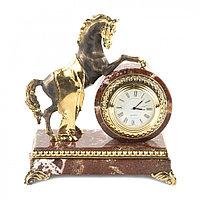 """Интерьерные часы """"Конь на дыбах"""" креноид бронза"""