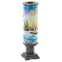 """Декоративная ваза """"Весенний пейзаж"""" рисунок из каменной крошки"""
