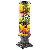 """Декоративная ваза """"Осень янтарная"""" рисунок из каменной крошки"""