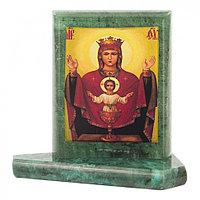 Икона настольная Неупиваемая Чаша малая змеевик 7,5х6,5х8 см