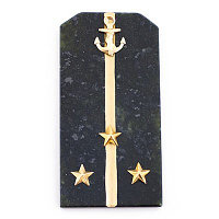 """Магнит """"Погон Старший лейтенант ВМФ"""" камень змеевик"""