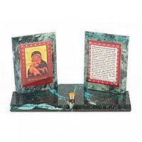 Икона настольная Молитва о детях из змеевика 18х7х10,5 см