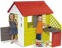 Игровой домик с кухней Smoby красный