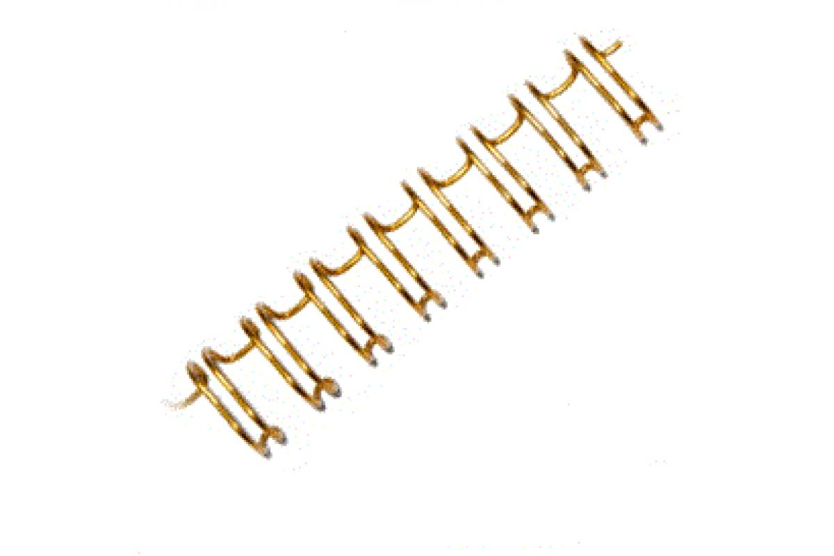 "Переплетная пружина QP 3:1 A4 size 1/4"" (6,4мм/30, 100шт, металл, Yellow)"