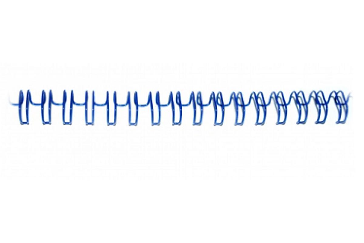 "Переплетная пружина QP 3:1 A4 size 5/16""  (7,9мм/50, 100шт, металл, Blue)"