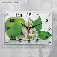 """Часы настенные, серия: Кухня, """"Яблоко"""", 25х35 см, микс"""