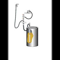 Комплект для откачки масла из бочки 205 л с насосом PM4, коэф. сжатия 3:1, монтаж на стену