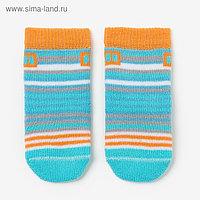 Носки детские махровые, цвет светло-бирюзовый, размер 9-10