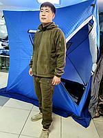 Демисезонный флисовый теплый костюм для рыбалки, охоты и туризма