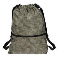 Мешок для обуви (рюкзак), с карманом, 470 х 370 мм, 'Оникс', МО-29-47, с ручкой, цвет хаки