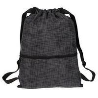 Мешок для обуви (рюкзак), с карманом, 470 х 370 мм, 'Оникс', МО-29-47, с ручкой, цвет чёрный