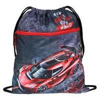 Мешок для обуви, с карманом, 490 х 410 мм, 'Оникс', МО-27-4р, с ручкой и сеткой для вентиляции, 'Красная