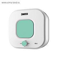 Водонагреватель Zanussi ZWH/S 15 Mini O, накопительный, 2.5 кВт, 15 л, бело-зеленый