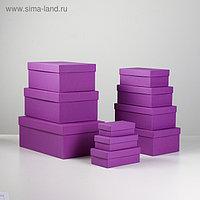 """Набор коробок 10 в 1 """"Пурпурный холст"""", 30,5 х 20 х 13 - 12 х 6,5 х 4 см"""