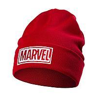 Шапка с вышивкой Marvel, красная, фото 1