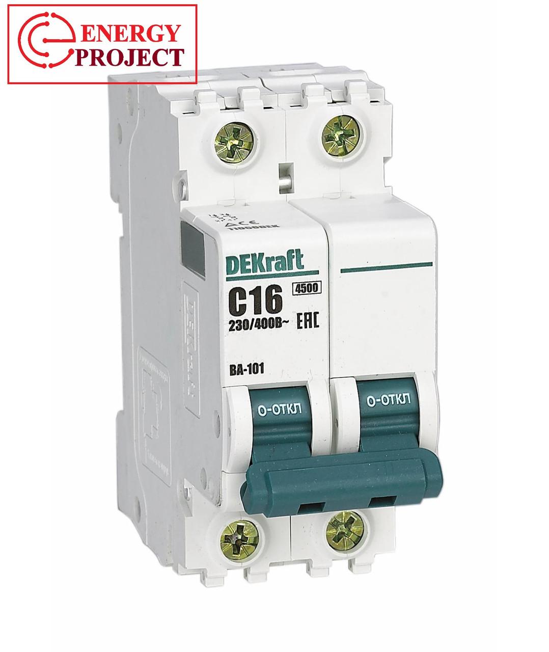 Автоматический выключатель ВА 101 1П 16А(114) Dekraft