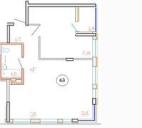 2 комнатная квартира в ЖК Кристалл 2 63 м², фото 1