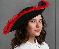 Карнавальная шляпа «Пиратка», с каймой, р-р 56-58