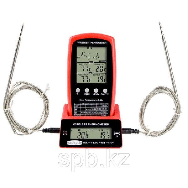 Беспроводной двухканальный термометр зонд для мяса